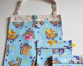 My Little Pony Reusable Snack,  Sandwich, and Tote bag set Trick or Treat Bag Easter Basket