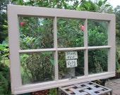 30 x 19-1/4 Vintage Window sash  6 pane  from 1958