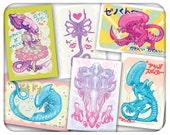Coey: Cutie Xeno Cards, Bags, Tees