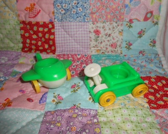 Fisher Price Little People Riders-Plane-Wagon