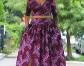 Missy Maxi Crop Top & Skirt Set - Ready to Ship - NEW!