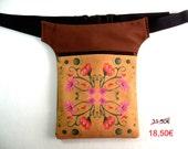SALE: Fanny pack bloom, hip pouch mosaic, Hip Bag Waist Bag, bum bag, travel pouch, belt bag.