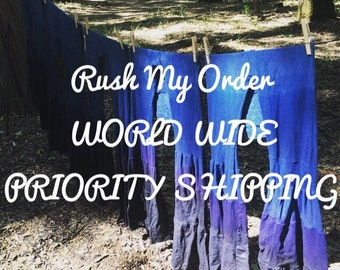 Rush My Order WORLD WIDE PRIORITY Shipping