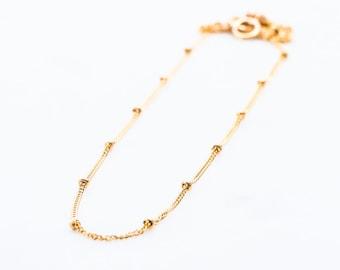 Olina necklace - Gold Necklace, Gold Bead Necklace, Gold Dot Necklace, Dainty Necklace, Gold Filled Necklace, Everyday Necklace, Hawaii