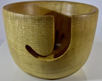 1103 Yarn bowl, made from figured Myrtlewood