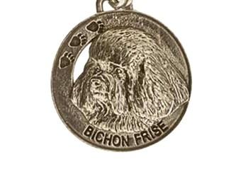 Pewter ~ Bichon Frise Keychain ~ DK026