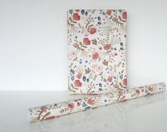 "Wrapping paper ""Fleurs folk"" - Papier cadeau ""Fleurs folk"""