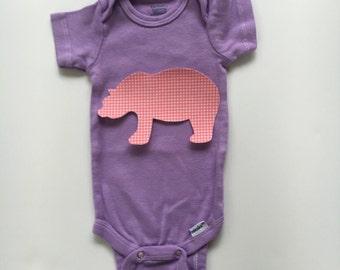 Bear Applique - Bear Iron on Applique - Brown Bear Applique - Bear Shirt - Bear Baby Tee