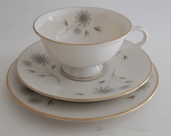 Haviland Teacup, Saucer and Lunch Plate Set