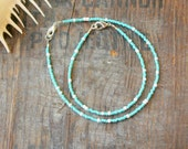 seafoam and white anklet and bracelet matching set beach wear surf blue ocean summer vacation holiday wear