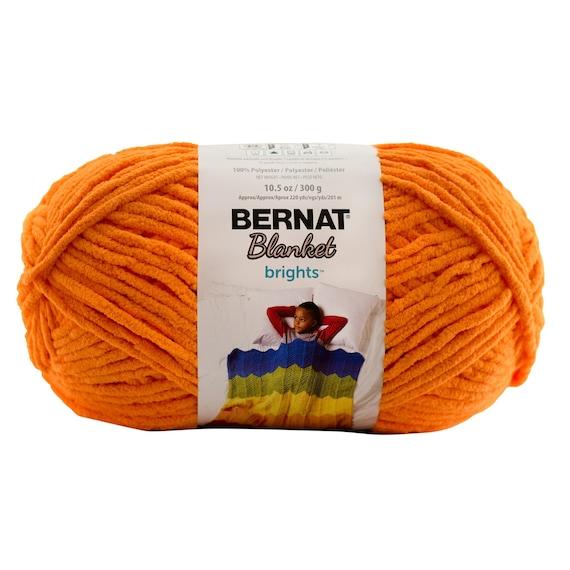 Bernat Blanket Brights Yarn Carrot Orange Large Skein 300