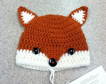 Crochet Fox Hat- Photo Prop