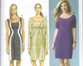 Butterick B5998 - UNCUT Misses' Wavy Seam-Detail Dress Sewing Pattern - Sizes 8-16