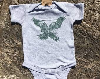 FREE SHIPPING Philadelphia Eagle -- Paul Carpenter Art -- Baby Onesie