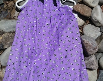 Girl's Lavender Pillowcase Dress
