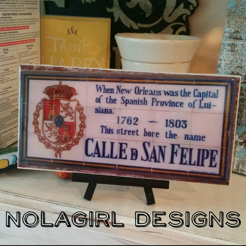 New Orleans Spanish Tile Replica Home Decor New Orleans