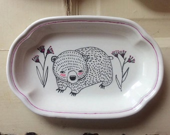 Little Bear Illustrated Dish
