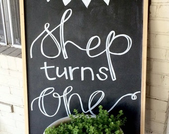 Custom Chalkboard Art - Wedding, Restaurant Menu, Etc.