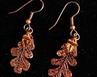 Copper Oak Earrings