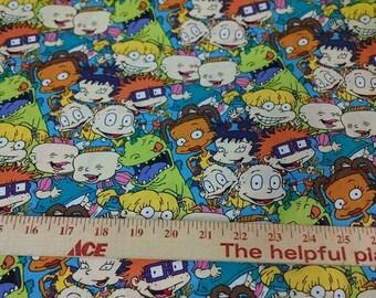 Rugrats Cotton Woven Fabric- 1 yard