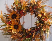 RESERVED FOR HANNAH, fall wreath, fall door wreath