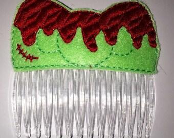 Zombie Cartoon Hair Bow Hair Comb vintage hair accessories