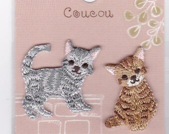 Cats Embroidered Iron-on Applique Iron-on Patch (H457-880) Buy other items together for BETTER price.