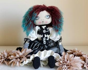 OOAK Art Doll - Beautiful Cloth Gothic Victorian Doll Art - Doll Artist Cheryl Austin
