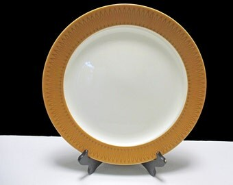 Homer Laughlin Brittany Shape - Morocco Geometric Pattern - Large Round Platter Chop Plate