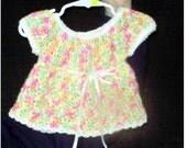 Multicolor Crochet Baby Dress