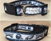 "Handmade Philly Football Fan 1"" Adjustable Dog Collar"