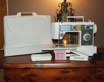 Local PICKUP ONLY!  Vintage 1980's JC Penney Model 7043 Portable Free Arm Sewing Machine