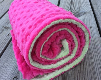 Gorgeous Double Sided Minky Blanket