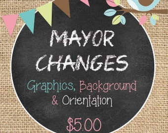 Mayor Design Changes on any of my store invitations