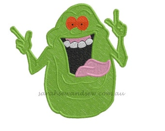 Ghostbusters Slimer Inspired Embroidery Design