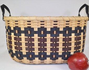 """BASKET PATTERN """"Vanessa"""" Large Gathering Basket for Afghans, Laundry, Toys, or Towels"""