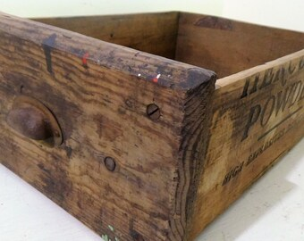 D1 Vintage Handmade Workbench Drawer Wood Shipping Crate Hercules Organization Storage Rustic Primitive