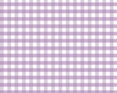 """Riley Blake Gingham Fabric/Lavender and White/1/4"""" Medium Check/Cotton Sewing Material/Quilting and Clothing/Fat Quarter,  By The Yard"""