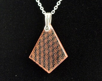 Glass Honeycomb Necklace