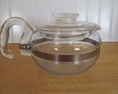 Pyrex Blue Flameware Coffee or Tea Pot