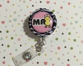 ID Badge clip - Medical Assistant chic