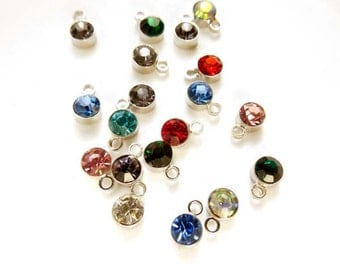 20 Assorted Rhinestone Drop Charms - 21-31-16