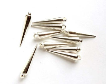 10 Silver Spikes - 6-S-14
