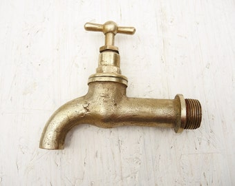 Vintage Brass Water Faucet - Home Decor - Antique Brass Water Faucet