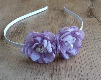 Lilac Flower Headband by Fairytale Flower Wedding Hair Flowers Bridal Accessories