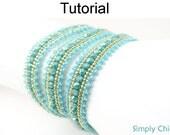 Beading Tutorial Pattern - Beaded Bracelet - Herringbone Stitch - Simple Bead Patterns - Simply Chic Bracelet #19299