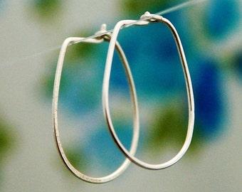 Hoop earrings, silver sterling hoops, silver hoop, simple earrings, small hoop earrings, modern simple earrings
