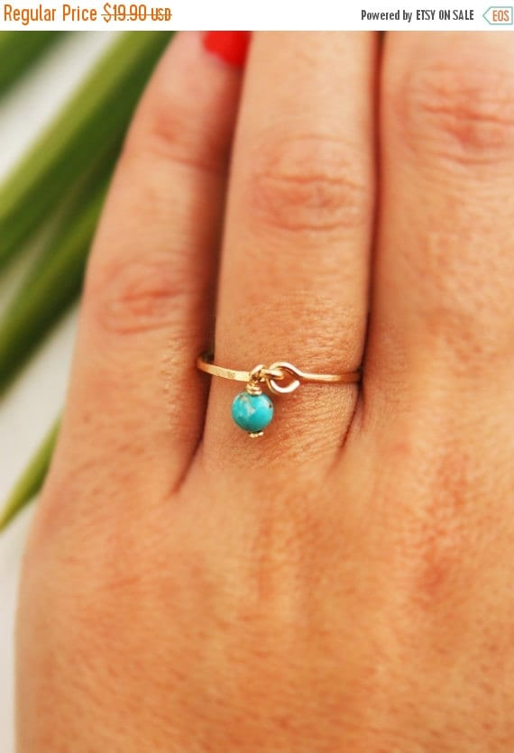 Turquoise ring, gold ring, silver ring, gemstone ring, thin ring, 14k gold filled ring, stacking ring, wedding, thin ring, everyday ring