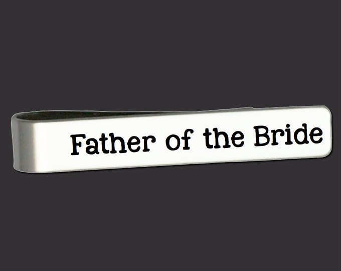 Father of the Bride Gift | Father of the Groom Gift | Wedding Gifts | Custom Personalized Tie Bar Korena Loves