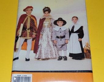 Uncut Childrens XS to L Butterick 6305 Costume pattern